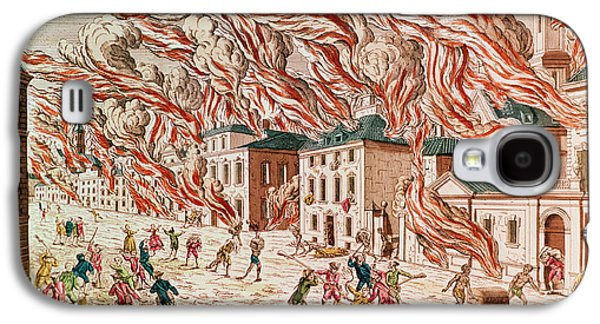 Representation Of The Terrible Fire Of New York Galaxy S4 Case by French School