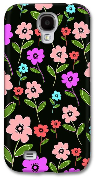 Louisa Galaxy S4 Cases - Retro Florals Galaxy S4 Case by Louisa Knight