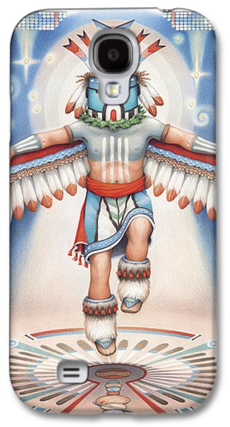 Native Drawings Galaxy S4 Cases - Return of the Blue Star Kachina Galaxy S4 Case by Amy S Turner