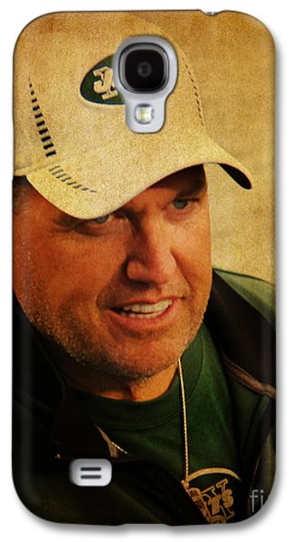 Espn Galaxy S4 Cases - Rex Ryan - New York Jets Galaxy S4 Case by Lee Dos Santos