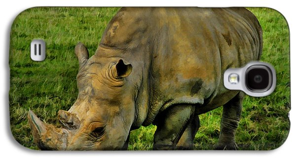 Rhinoceros Paintings Galaxy S4 Cases - Rhinoceros 101 Galaxy S4 Case by Dean Wittle