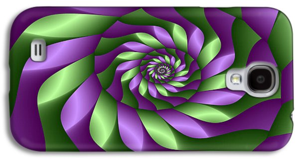 Digital Art Greeting Cards Galaxy S4 Cases - Ribbon Spiral Galaxy S4 Case by Sandra Bauser Digital Art