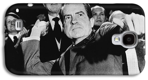 America First Party Galaxy S4 Cases - Richard Nixon (1913-1994) Galaxy S4 Case by Granger