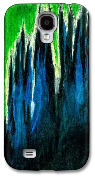Nature Abstract Pastels Galaxy S4 Cases - Rising into Green Galaxy S4 Case by Carla Sa Fernandes