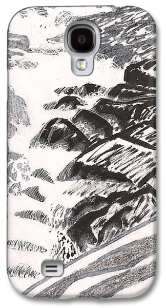 Canoe Mixed Media Galaxy S4 Cases - River Road Spring Roar Monterey Ma Galaxy S4 Case by Al Goldfarb