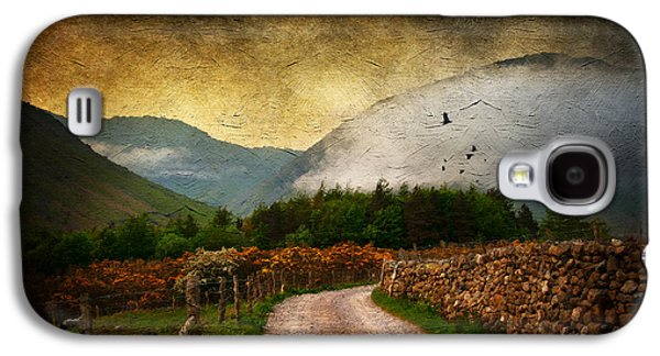 Nature Scene Mixed Media Galaxy S4 Cases - Road by the Lake Galaxy S4 Case by Svetlana Sewell