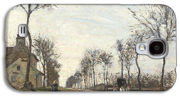 Road In Louveciennes Galaxy S4 Case by Camille Pissarro
