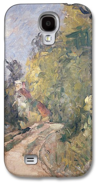Road Turning Under Trees Galaxy S4 Case by Paul Cezanne