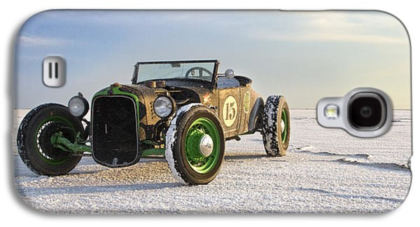 Automobiles Photographs Galaxy S4 Cases - Roadster on the Salt Flats 2012 Galaxy S4 Case by Holly Martin