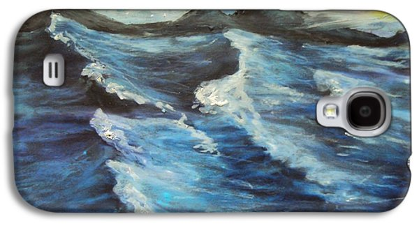 Storm Prints Pastels Galaxy S4 Cases - Roaring Sea Galaxy S4 Case by Casey P