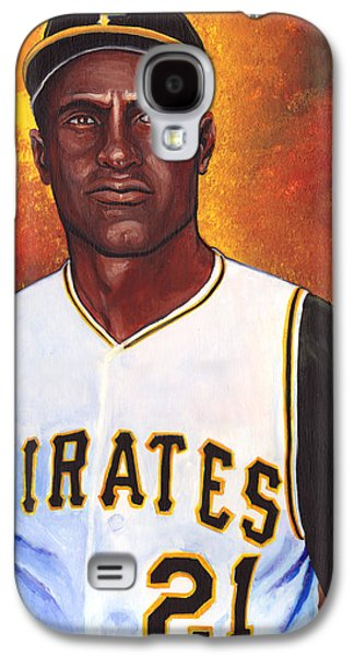 Baseball Glove Paintings Galaxy S4 Cases - Roberto Clemente Galaxy S4 Case by Steve Benton