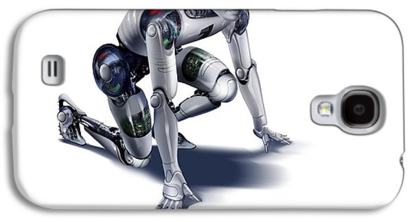 Science Fiction Photographs Galaxy S4 Cases - Robot, Artwork Galaxy S4 Case by Smetek
