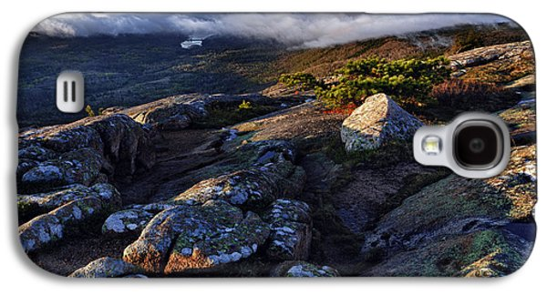 Maine Mountains Galaxy S4 Cases - Rock and Fog Galaxy S4 Case by Rick Berk