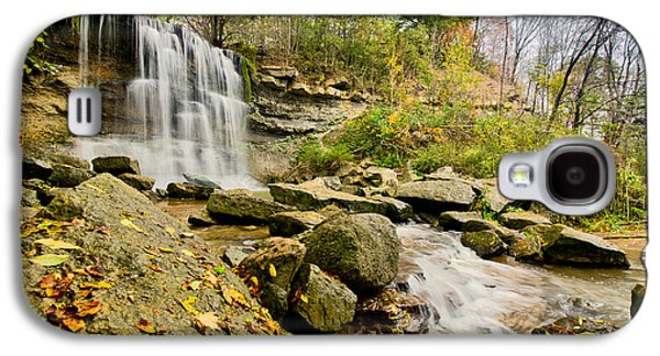 Hdr Landscape Galaxy S4 Cases - Rock Glen Falls Galaxy S4 Case by Cale Best
