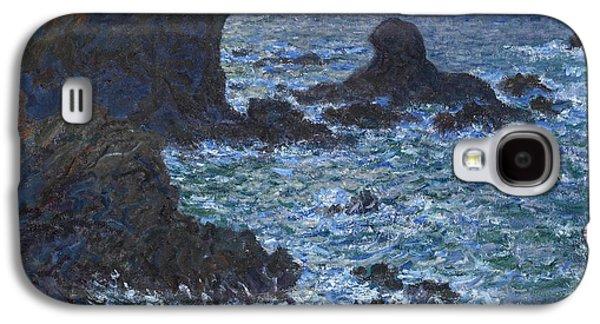 Rocks At Port Coton The Lion Rock Galaxy S4 Case by Claude Monet