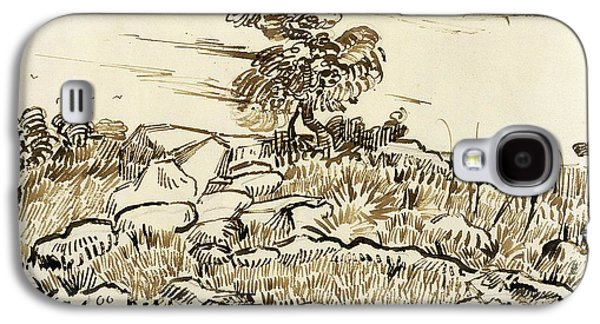 Rocky Ground At Montmajour Galaxy S4 Case by Vincent van Gogh