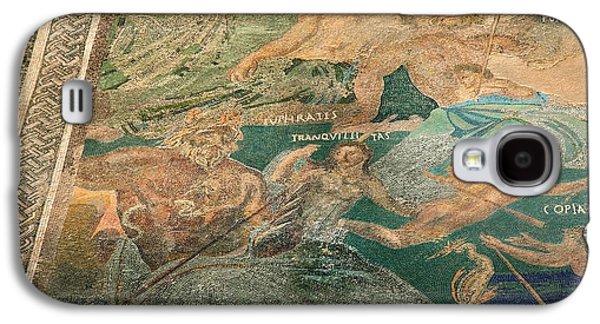 Cosmological Galaxy S4 Cases - Roman Cosmological Mosaic Galaxy S4 Case by Sheila Terry