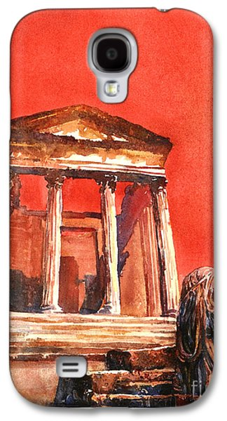 Byzantine Paintings Galaxy S4 Cases - Roman Ruins- Tunisia Galaxy S4 Case by Ryan Fox