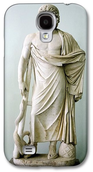 Statue Portrait Galaxy S4 Cases - Roman Statue Of Asclepius Galaxy S4 Case by Sheila Terry