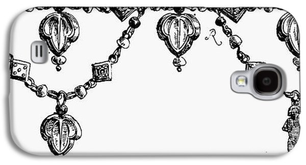 Gold Necklace Galaxy S4 Cases - Rome: Gold Collar Galaxy S4 Case by Granger