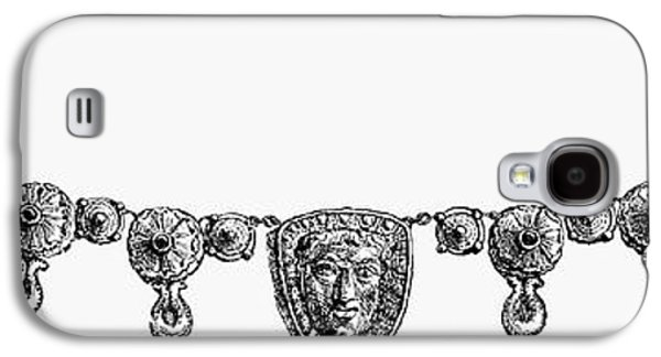 Gold Necklace Galaxy S4 Cases - Rome: Gold Necklace Galaxy S4 Case by Granger