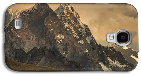 Mountain Photographs Galaxy S4 Cases - Rondoy Peak 5870m At Sunset Galaxy S4 Case by Colin Monteath