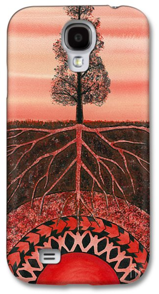Root Galaxy S4 Cases - Root Chakra Galaxy S4 Case by Catherine G McElroy