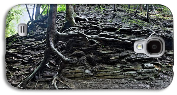 Tree Roots Galaxy S4 Cases - Roots In Shale Galaxy S4 Case by Ted Kinsman