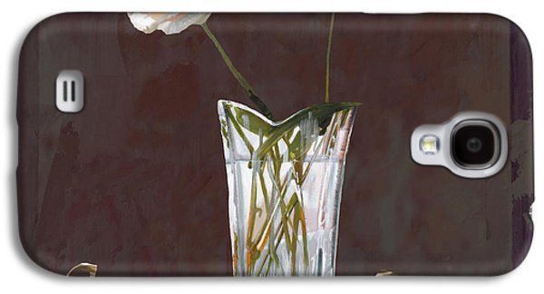 Vase Paintings Galaxy S4 Cases - Rosa Rosae Galaxy S4 Case by Guido Borelli