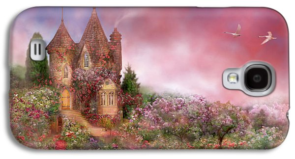 The Houses Mixed Media Galaxy S4 Cases - Rose Manor Galaxy S4 Case by Carol Cavalaris