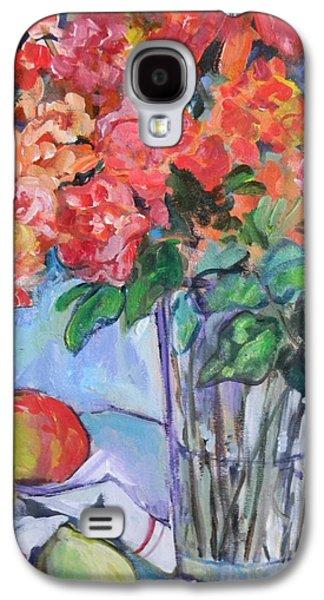 Carol Mangano Galaxy S4 Cases - Roses and Peaches Galaxy S4 Case by Carol Mangano