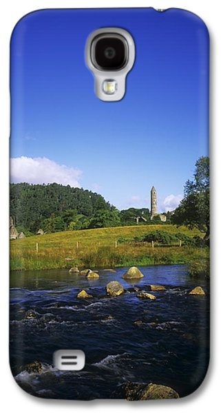 Monasticism Galaxy S4 Cases - Round Tower And River In The Forest Galaxy S4 Case by The Irish Image Collection