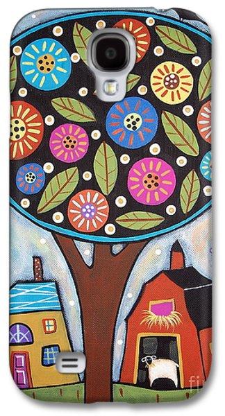 Round Galaxy S4 Cases - Round Tree Galaxy S4 Case by Karla Gerard