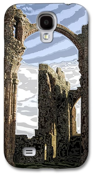 God Glass Art Galaxy S4 Cases - Ruins on the Holy Island Galaxy S4 Case by Carl Purcell