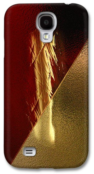 Red Abstract Glass Art Galaxy S4 Cases - Sacred Things Galaxy S4 Case by Peter Piatt