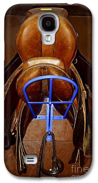 Horseback Galaxy S4 Cases - Saddles Galaxy S4 Case by Elena Elisseeva