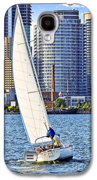 Sports Photographs Galaxy S4 Cases - Sailboat in Toronto harbor Galaxy S4 Case by Elena Elisseeva