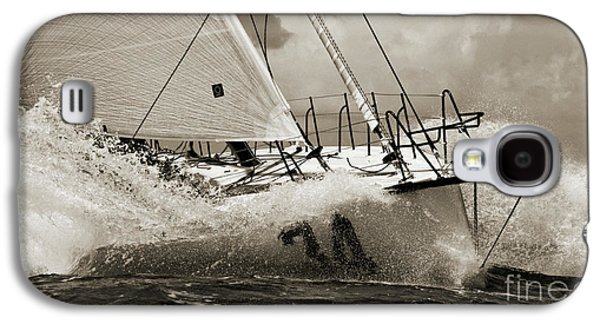 Sailing Galaxy S4 Cases - Sailboat Le Pingouin Open 60 Sepia Galaxy S4 Case by Dustin K Ryan