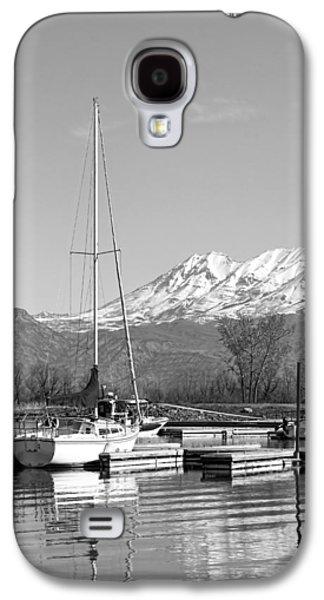 Sailboats Docked Galaxy S4 Cases - Sailboats At Utah Lake State Park Galaxy S4 Case by Tracie Kaska
