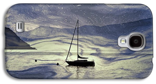 Melancholy Galaxy S4 Cases - Sailing Boat Galaxy S4 Case by Joana Kruse