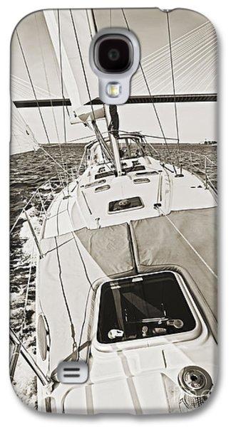 Sailing Galaxy S4 Cases - Sailing Sailboat Charleston SC Bridge Galaxy S4 Case by Dustin K Ryan