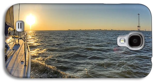 Sailboats In Harbor Galaxy S4 Cases - Sailing Sunset Galaxy S4 Case by Dustin K Ryan