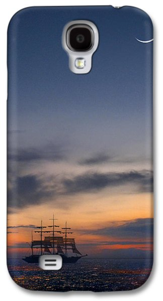 Tall Ship Galaxy S4 Cases - Sailing to the Moon Galaxy S4 Case by Mike McGlothlen