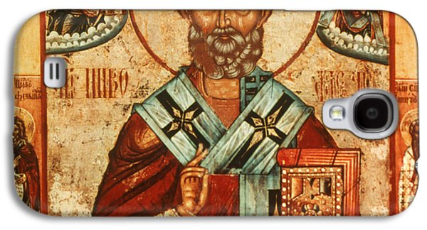 Orthodox Icon Galaxy S4 Cases - Saint Nicholas Galaxy S4 Case by Granger