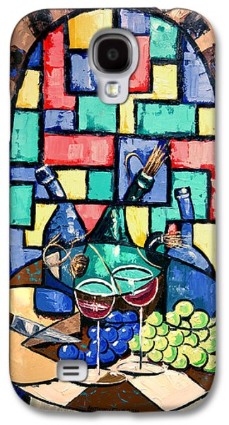 Canvas Wine Prints Galaxy S4 Cases - Salute Happy Hour In Tuscany Galaxy S4 Case by Anthony Falbo
