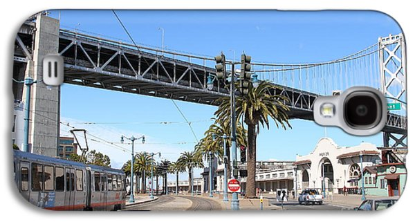 Oakland Metro Photographs Galaxy S4 Cases - San Francisco Bay Bridge at The Embarcadero . 7D7706 Galaxy S4 Case by Wingsdomain Art and Photography