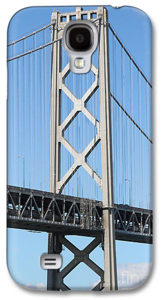 Landmarks Photographs Galaxy S4 Cases - San Francisco Bay Bridge At The Embarcadero . 7D7717 Galaxy S4 Case by Wingsdomain Art and Photography