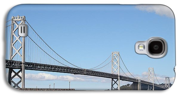Landmarks Photographs Galaxy S4 Cases - San Francisco Bay Bridge at the Embarcadero . 7D7725 Galaxy S4 Case by Wingsdomain Art and Photography