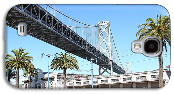 Landmarks Photographs Galaxy S4 Cases - San Francisco Bay Bridge at The Embarcadero . 7D7735 Galaxy S4 Case by Wingsdomain Art and Photography
