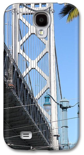 Landmarks Photographs Galaxy S4 Cases - San Francisco Bay Bridge at The Embarcadero . 7D7739 Galaxy S4 Case by Wingsdomain Art and Photography